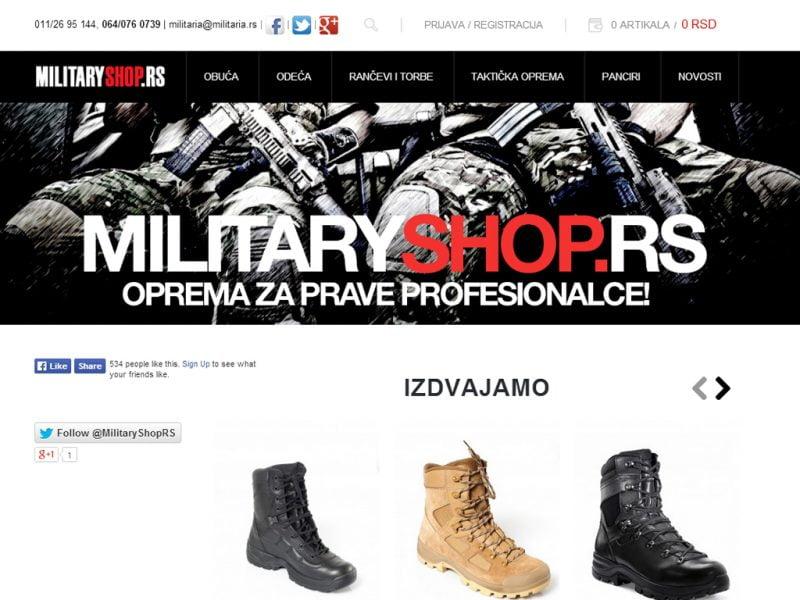 Novi sajt MilitaryShop.rs