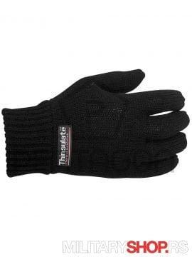 Pletene rukavice Crne