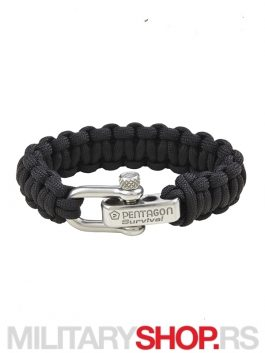 PENTAGON SURVIVAL BRACELET PRO BLACK