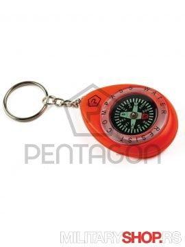 Vodootporni kompas privezak Pentagon Narandzasti