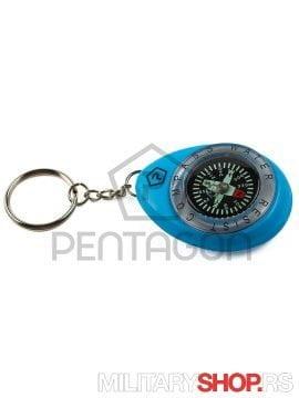 Vodootporni kompas privezak Pentagon Plave boje