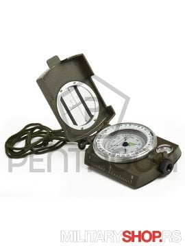 Profesionalni Vojni kompas Prismatic od metala