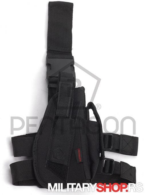 Nosac Pistolja na butini - spustena futrola za pistolj