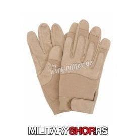 Military rukavice krem