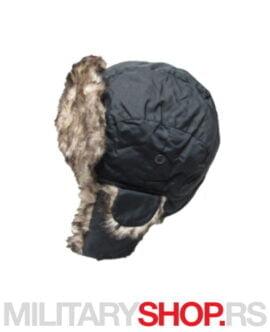 Zimska šubara sa krznom crna