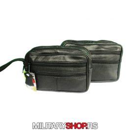 Kozna torbica muska crna 2