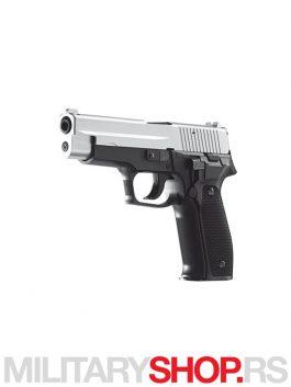 Replika pištolja AIR SOFT Silver & Black GAH-0203BS