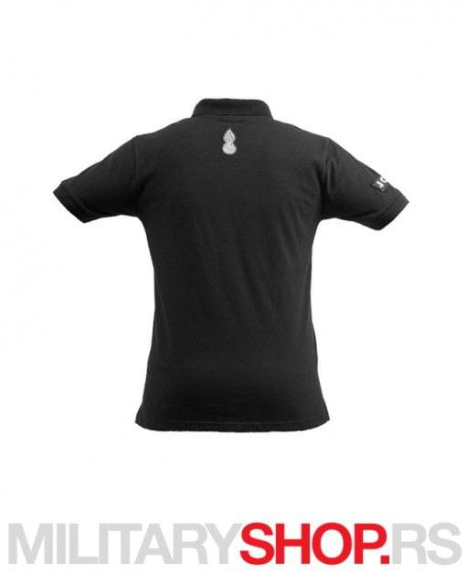 JSO Polo Majica Crna sa kragnom