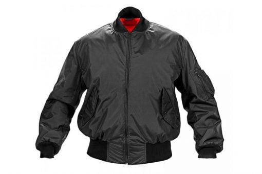 Letacka jakna MA1 fajerka crna