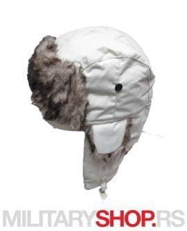 Zimska kapa Subara sa postavom od krzna bele boje