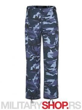 Maskirno plave Brandit pantalone Rendzer