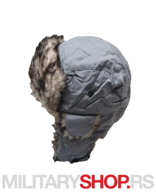 Subara siva - zimska kapa sa krznom