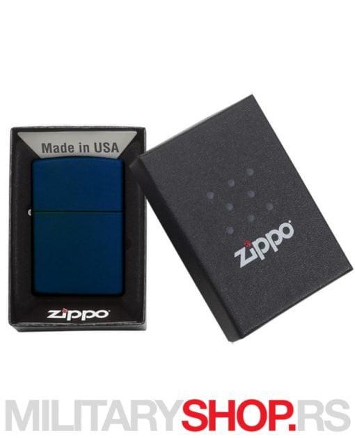 Zippo upaljac navy plavi matte