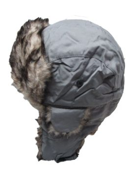 Subara siva zimska kapa sa krznom