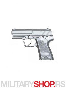 Airsoft replika pistolja usp HEAVY WEIGHT Srebrni