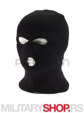 K14010 THREE HOLES BALAKLAVA WITH THINSULATE LINER crna