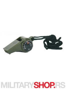 Pentagon pistaljka sa kompasom i termometrom zelena