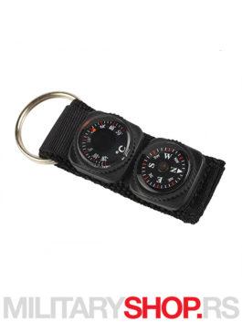 Pentagon privezak za kljuceve sa kompasom termometrom
