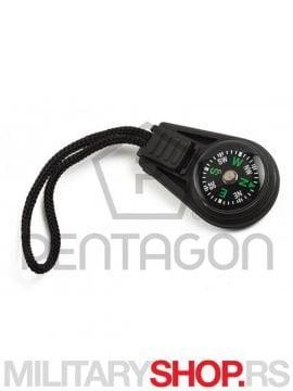 Privezak za kljuceve sa kompasom Pentagon