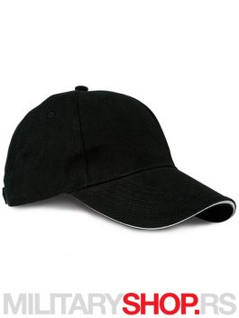 Kačket crne boje od brušenog pamuka - Runner