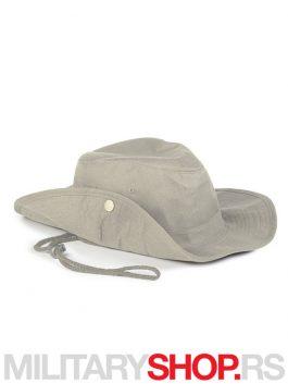 Pamučni šešir Safari bež boje sa učkurom