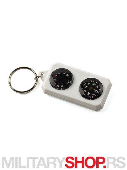 PENTAGON plastican privezak kompas termometar