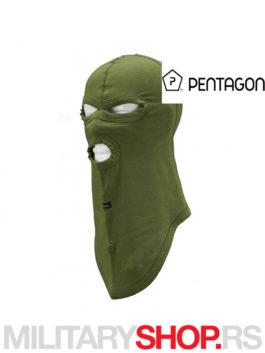 Fantomka zelena K14015 Balaklava sa tri otvora Pentagon
