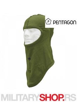 Fantomka zelena K14016 Balaklava sa jednim otvorom