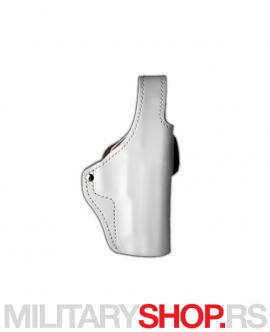 Kozna policijska bela futrola za nosenje pistolja