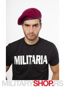 Bordo Francuska kapa Beretka