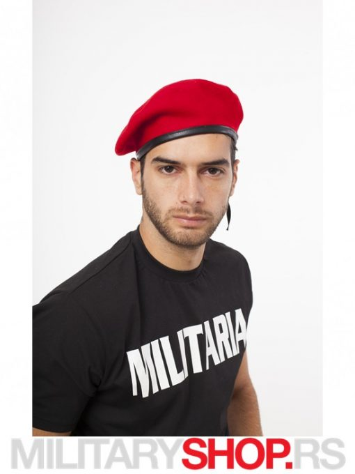Crvena Francuska kapa Beretka