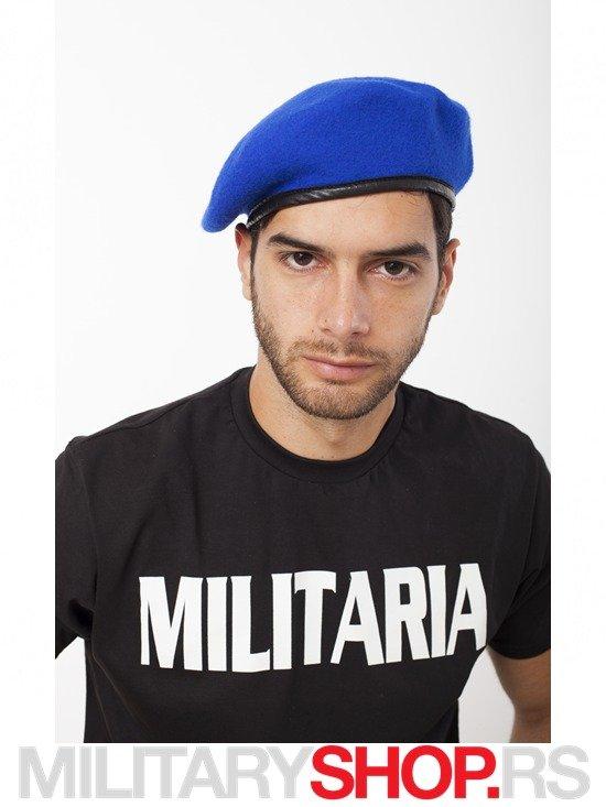 Plava Francuska kapa Beretka