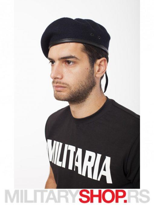 Crna Francuska kapa Beretka