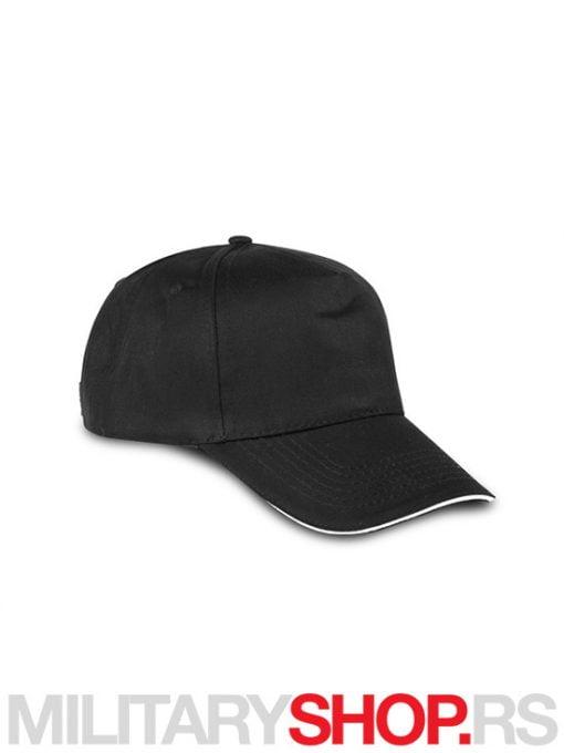Kačket za bejzbol pamučni crne boje