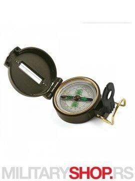 Metalni vojni kompas Lensatic zelene boje
