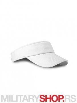 Beli kačket za tenis od brušenog pamuka