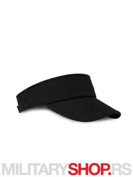 Crni kačket za tenis od brušenog pamuka