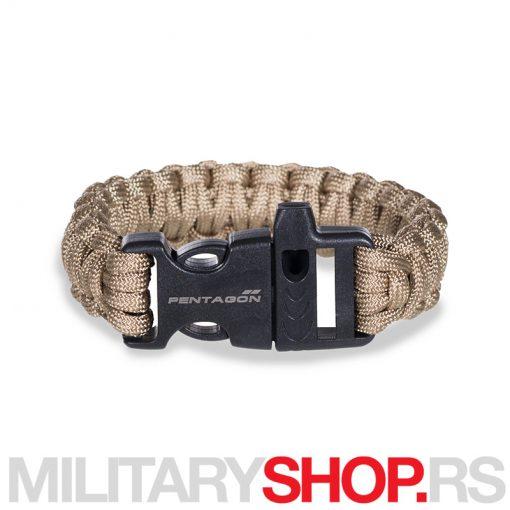 Kojot Pselion brecelet parakord Pentagon narukvica sa pištaljkom