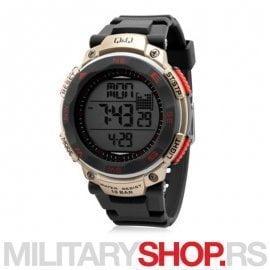 Q&Q Ručni digitalni muški sat M124J004Y