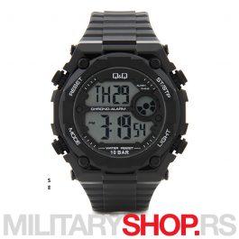 Q&Q muški digitalni ručni sat crni M127J001Y