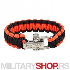 PENTAGON-SURVIVAL-BRACELET-PRO-BLACK-RED