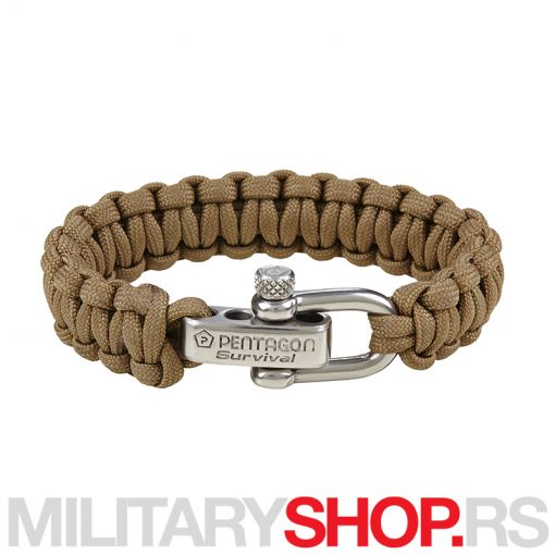 PENTAGON SURVIVAL BRACELET PRO COYOTE