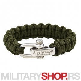 PENTAGON SURVIVAL BRACELET PRO GREEN