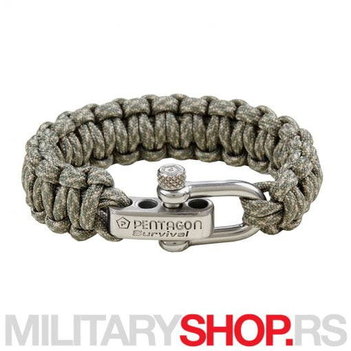 PENTAGON TACTICAL SURVIVAL BRACELET GREEN SPOT