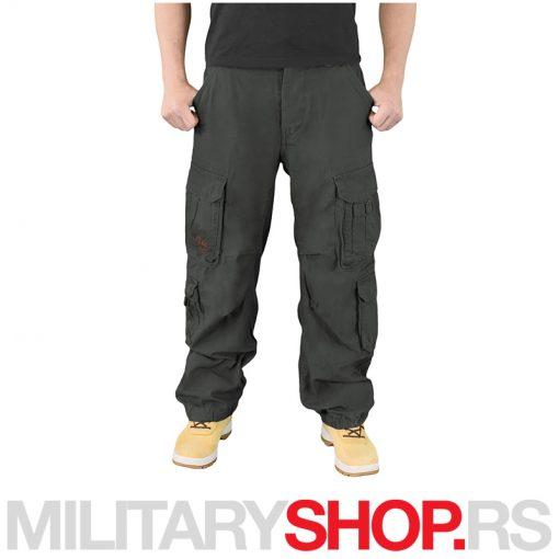 Surplus crne pantalone Airborne Vintage 100% pamuk
