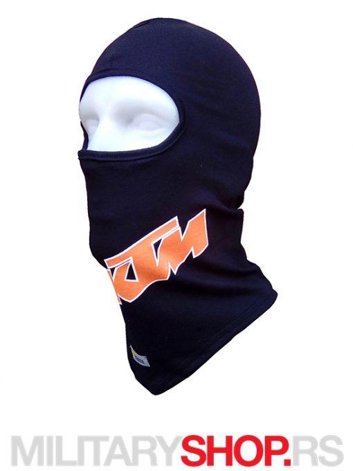 Crna pamučna potkapa sa logom KTM
