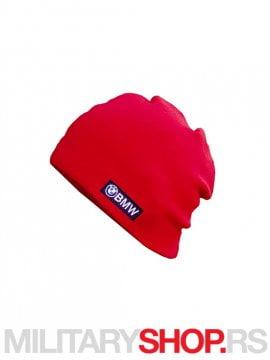 BMW pamucna zimska kapa crvene boje