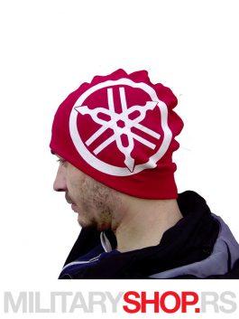 Crvena pamucna kapa sa logom YAMAHA