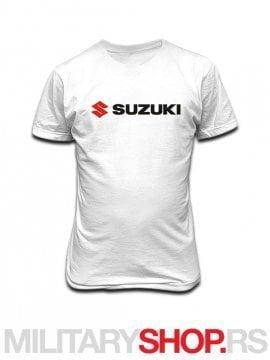 Bela majica od pamuka logo Suzuki
