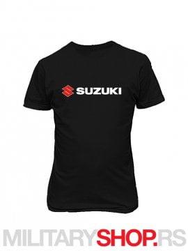 Suzuki crna pamucna moto majica